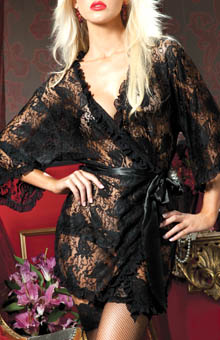Seven 'til Midnight Paisley Pleasure Lace Robe STM9405