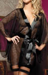 Secret Affair Floral Lace Robe With Kimono Sleeve