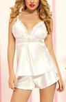 Enchanting Satin Two Piece Camisole and Short Set Image