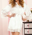 Enchanting Satin Lace Trim Robe Image