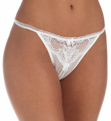 Shirley of Hollywood Classic Lace Open Thong 20411