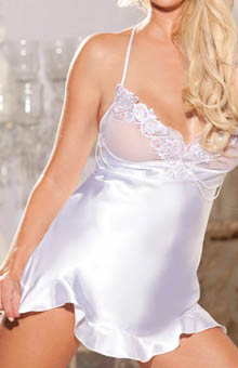Charmeuse And Lace Chemise