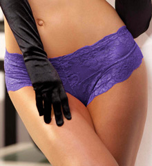 Shirley of Hollywood Stretch Lace Open Front Boyshort Panty 20517