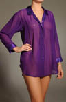 Chiffon and Charmeuse Boyfriend Shirt/Robe