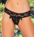 Shirley of Hollywood Stretch Lace Open Front Panty 25217