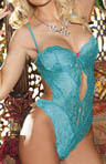 Shirley of Hollywood Stretch Lace Band Teddy 25242