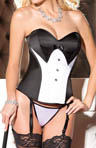 Shirley of Hollywood Putting On The Ritz Corset with Garters & G-String 26903