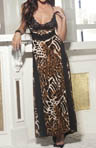 Shirley of Hollywood Animal Knit Long Gown 3244