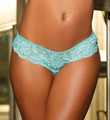 Textronic Stretch Lace Strappy Back Thong Panty Image