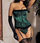 Shirley of Hollywood Floral Tapestry Strapless Corset 9001