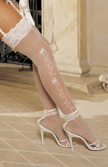 Wedding Bells Sheer Stockings