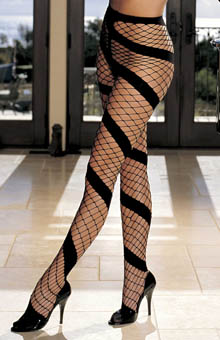 Opaque Stretch Fishnet Swirl Pantyhose