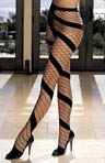 Shirley of Hollywood Opaque Stretch Fishnet Swirl Pantyhose 90083
