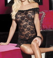 Stretch Lace Chemise And Thong Image