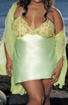 Shirley of Hollywood Plus Size Charmeuse Chemise X20365
