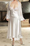 Plus Size Charmeuse And Net Long Gown