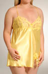 Plus Size Charmeuse And Lace Babydoll