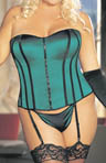 Shirley of Hollywood Zipper Satin Full Figure Corset X25907