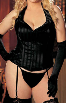 Plus Size Casablanca Stripe Tapestry Vest Corset