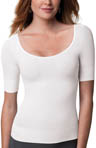 SPANX On Top Elbow Sleeve Scoop Neck Top 1012
