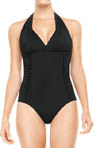 Streamlined Silhouette Halter One Piece Swimwear