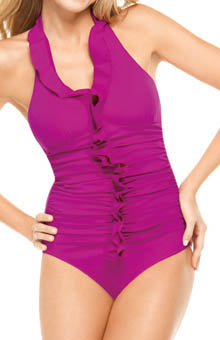 Long and Lean Halter One Piece Swimwear