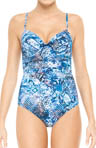 SPANX Blue Nile Bra-llelujah! One Piece Swimwear 1378