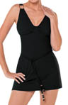 SPANX Grecian Goddess Belted Swim Dress 1394