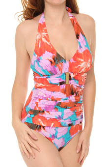 Belted Beauty Halter One Piece
