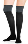 Socks Rock Two Tone Over the Knee Socks