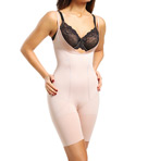 Slimmer & Shine Open Bust Mid Thigh