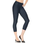 SPANX Look-At-Me Denim Look Crop Leggings 2392A
