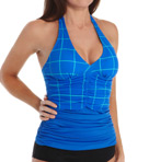 Ruched Halter Tankini Swim Top