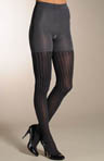 Patterned Tight-End Tights - Ribbed Stripe