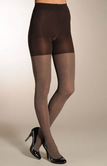 Patterned Tight-End Tights - Ribbed Heather