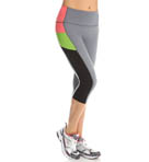 Color Block Compression Knee Pant Image