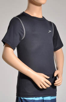 Boys Short Sleeve Swim Top