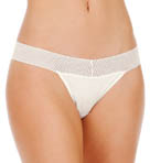 Essential Solid Mesh Lace Thong