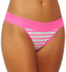 Color Fusion Mesh Lace Thong