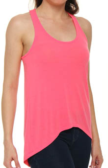 Drapey Lux Jersey Hi Low Sleeveless Tee