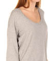 Splendid Heather Super Soft Scoop Neck Full Sleeve Tee 536945G