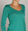 Splendid Jersey Long Sleeve V-Neck Tee MJ2612