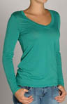Jersey Long Sleeve V-Neck Tee