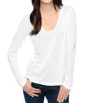 Splendid Very Light Jersey Long Sleeve V-Neck Tee MJ4559