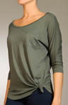 Splendid Long Sleeve Open Neck 1Pkt Tee MJ5134