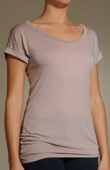 Very Light Jersey Drop Shoulder Asymmetrical Top