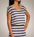 White Rugby Stripe Dress Image