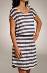 White Rugby Stripe Dress