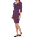 New Haven Stripe 3/4 Sleeve Dress Image