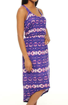 Sunburst Tie Dye Hi Low Dress